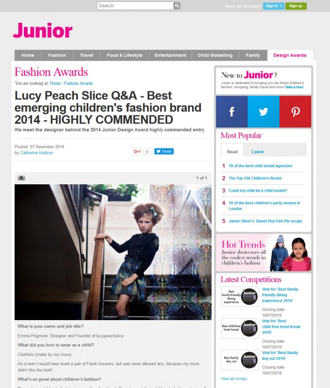 Lucy_Peach_Slice_Q&A_-_Best_emerging_children_s_fashion_brand_2014_-_HIGHLY_COMMENDED_-_2016-05-06_15.17
