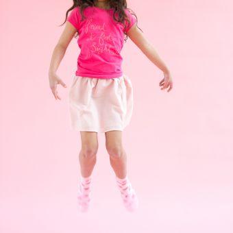 Lucy Peach Slice, Emma Prigmore, Friendship T-shirt, girlswear, SS17, kidswear, girls, kids, clothing